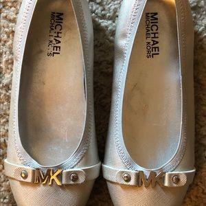 Michael Kors Women's Ballet Flats Size 2 Silver